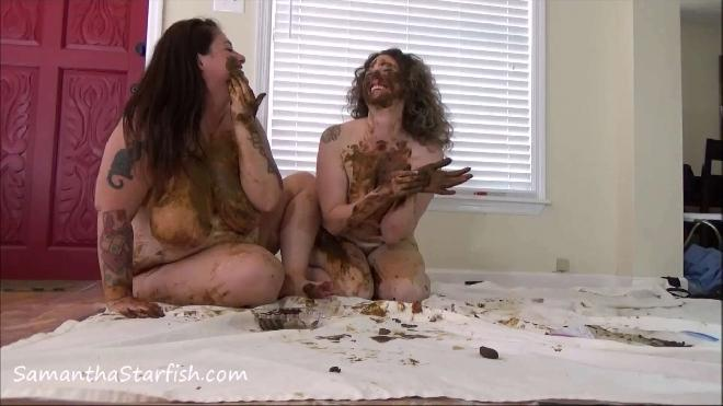 Two Sexy Girls Smearing Shit On Each Other  Samantha Starfish, Scat Goddess