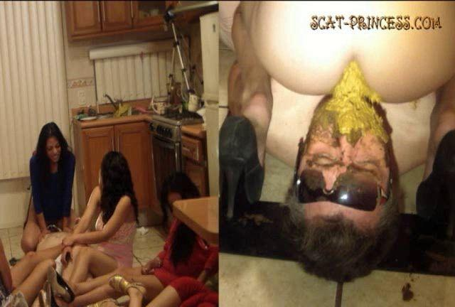 Dom-princess - Scat-princess - Toilet Man Abuse In The Kitchen Part 4 Diana Sd Dom-princess